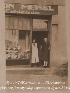 1917 rok - pierwszy sklep Leona na ul.Michalskiego